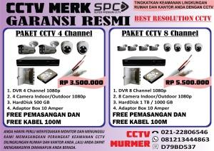 paket cctv spc , pasang cctv, bergaransi resmi, cctv harga murah